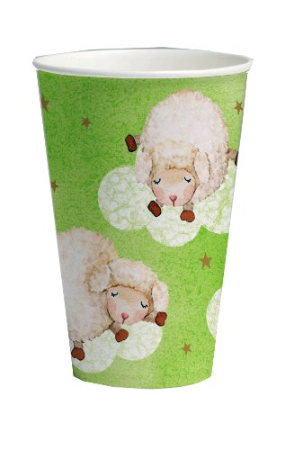 Creative Converting Baby Shower Ba Ba Baby 8 Count Paper Cups, 12-Ounce - 1