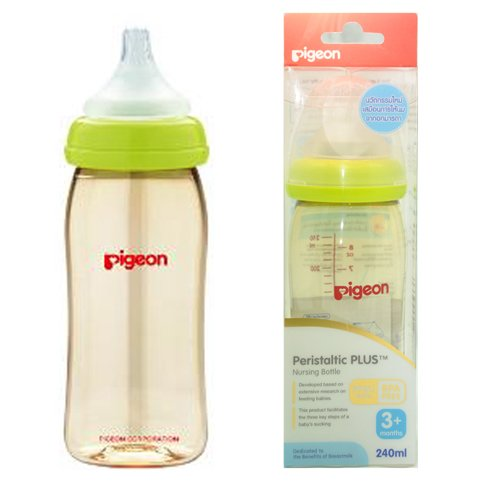 Pigeon Peristaltic PLUS PPSU Nursing Bottle BPA Free 240 ml with nipple size M