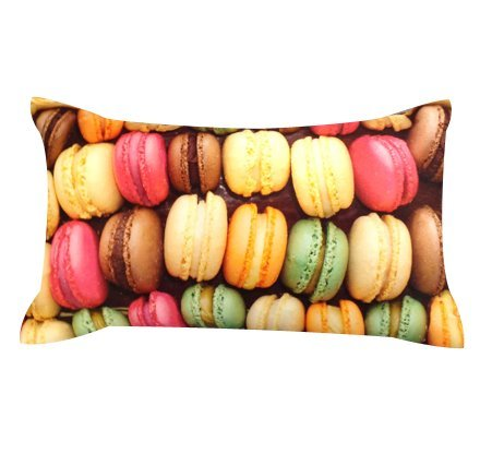 Artiwa Macaroon Cotton & Soft Velvet Sofa Couch Throw Decorative Long Pillow Cover 12X20 Inch front-537726