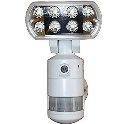 Versonel VSLNWP802B Nightwatcher Pro LED Security Motion Lights with Camera & WI