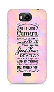 AMEZ life is like a camera Back Cover For Huawei Honor Bee
