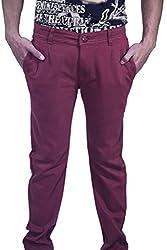 Rollister Men's Casual Pants (0094pp_Purple_30)
