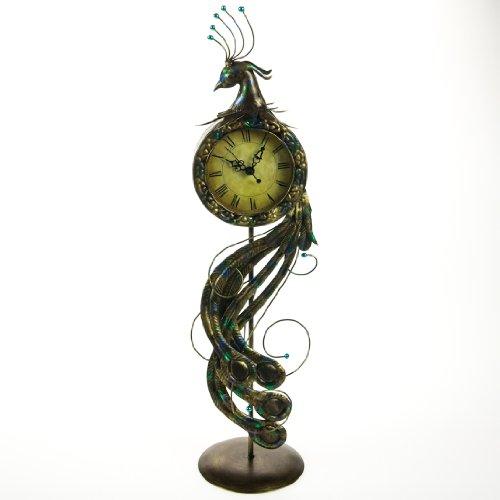 Metal Peacock Clock Clocks