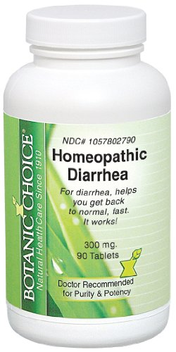 Botanic Choice Homeopathic Diarrhea Formula, 90 Count (Pack of 2)