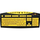 Keys-U-See Large Print USB Wired Computer Keyboard (Yellow Keys With Black Letters) Great For Visually Impaired...