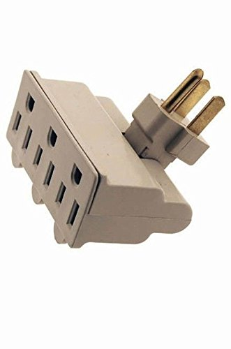 Fashion 3 outlet 3 prong swivel grounded electric plug wall tap space saver - UL (Utility Electric Cord compare prices)