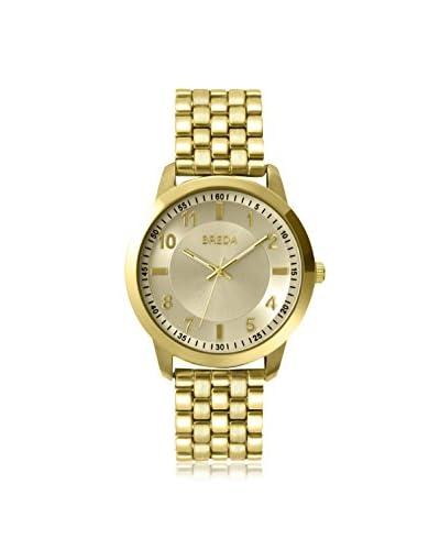 Breda Men's 9409A Gold-Tone Bracelet Watch