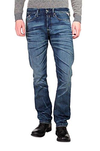 Replay Jeans Stretti WAITOM, uomo, Colore: Blu Scuro, Taglia: 32/34