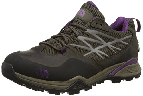 The North FaceHedgehog Hike Gore-Tex - Scarpe da Arrampicata Basse donna, Multicolore (Weimaraner Brown/Black Currant Purple Aux), Taglia 39 EU