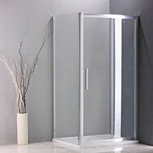 1100x800mm sliding shower door enclosure cubicle panel stone tray (NS4 11+NS3 80+ASR8011)       review and more information