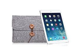 Bear Motion for iPad Mini - Premium Wool Felt Sleeve Case for iPad Mini and iPad Mini with Retina Display