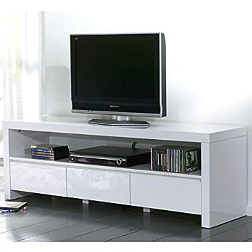 Sales fever TV con un peso de 3 cajones y compartimento para utilizar en blanco brillante Dean