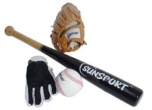 Bex Sport Kit baseball : gants + batte + balle 71 cm