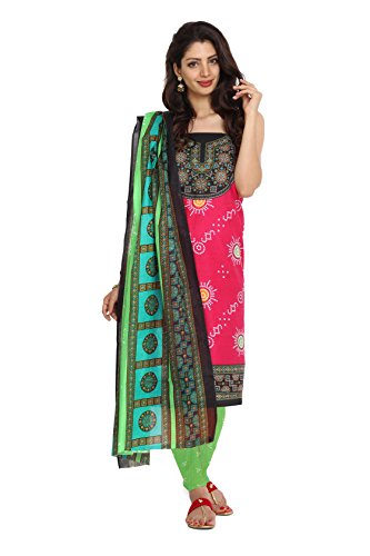 Aryahi Women's Cotton Dress Material (70405_Pink) | Kerala ...