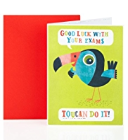 Toucan Exam Good Luck Greetings Card
