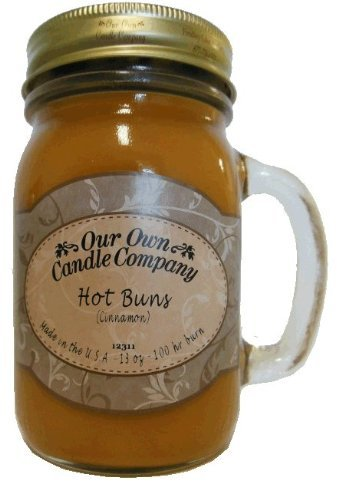 13oz HOT BUNS (CINNAMON) Scented Jar Candle (1)