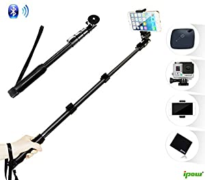 selfie stick for gopro cameras and mobile phone ipow professional extendable. Black Bedroom Furniture Sets. Home Design Ideas