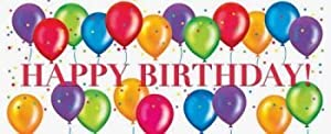 Birthday Balloons Giant Banner by Creative Converting