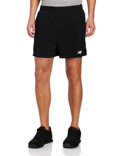 New Balance Men's 5-Inch Track Shorts, Black, X-Large