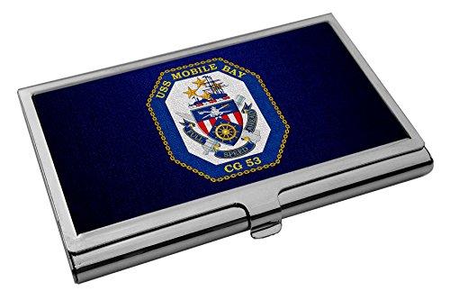 Business Card Holder - US Navy USS Mobile Bay (CG 53), cruiser emblem (crest)