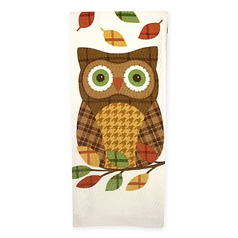Plaid Owl Warm Print Dual Kitchen Towel (Red Toile Dishes compare prices)