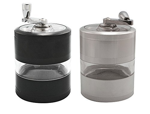 4pc Grindhouse Aluminum Grinder w/ Crank - Various Colors (Black) (Grinder With Crank compare prices)