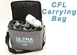 Linco Flora CFL Fluorescent Bulb Lamp Padded Carrying Case Bag - Also Provdes Great Protection for you Lens and more