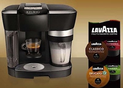 The Keurig Rivo Cappuccino and Latte System --- Including: 18 Lava Espresso Delicato and 24 Lavazza Sampler Pack (Black, 1) (Keurig Coffee Latte Maker compare prices)