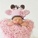2014 neue Baby gestrickte Mützen Handarbeit gehäkelt Fotografie Props Baby-Mützen Winter 0-5 Monate