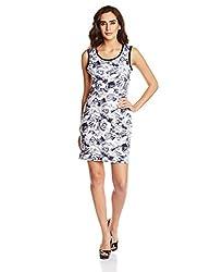 Elle Women's Body Con Dress (EEDR0267_Grey _Large)