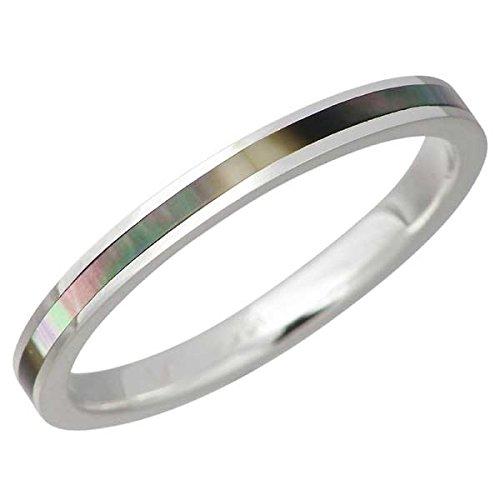 AQUA SILVER アクアシルバー ブラックシェル シルバー リング 指輪 3~21号 ASR161BK