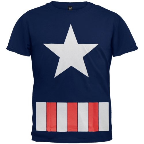 Old Glory Boys Captain America - Great Star Costume T-Shirt
