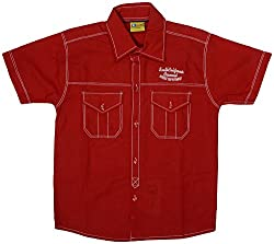 GOWRI MARKETING Boys' Regular Fit Shirt (AM00069_3-4 Years, Red)