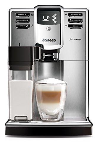 Saeco HD8917/01 Incanto Kaffeevollautomat, AquaClean, integrierte Milchkaraffe, silber thumbnail