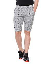 Glasgow Men's Cotton Shorts (NICK433_Grey_Medium)