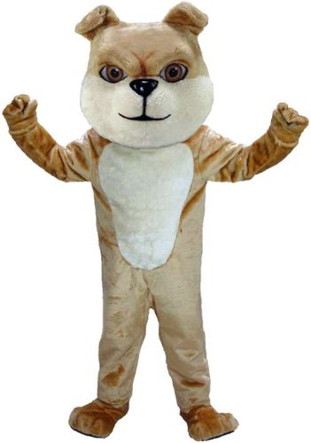 Cream Bulldog Lightweight Mascot Costume