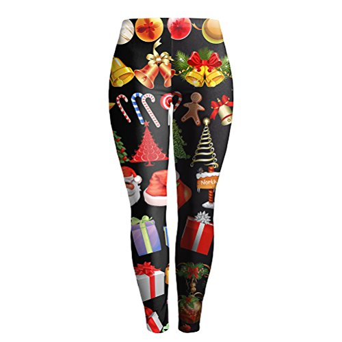 Cyber Monday Women Christmas Print Pattern Outwork Fitness Gym Yoga Pants Active Ankle Leggings Winter