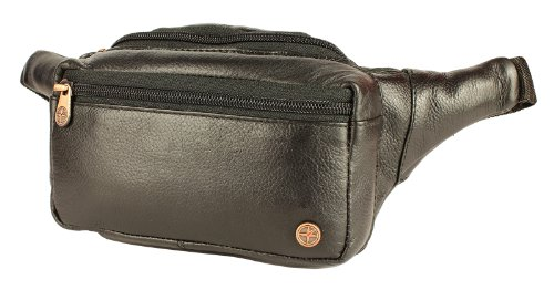 Black Leather Bumbag By 1642 . Black Bum Bag In Leather . Black Leather Bumbags