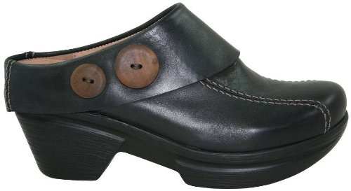 Sanita Women's Nikolette Clog,Black,40 EU/9.5-10 M US