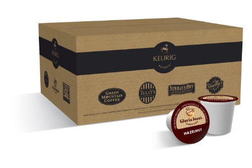 Gloria Jean's Coffees,Hazelnut K-Cups for Keurig Brewers (Pack of 50)