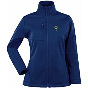 Antigua Ladies West Virginia Mountaineers Traverse Fleece Back Full-Zip Jacket by Antigua