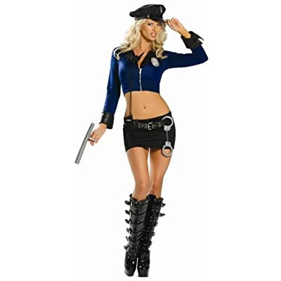 Sexy   Girls Costumes: Hot Babes in 8 Piece Officer Naughty Costume