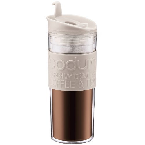 Bodum 15-Ounce Travel Mug, White (Travel French Press Bodum compare prices)