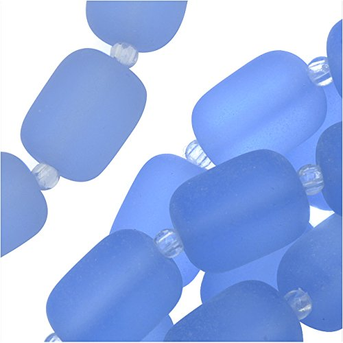 cultured-sea-glass-barrel-nugget-beads-13x10mm-13-pieces-light-sapphire