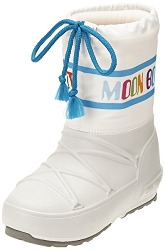Moon Boot Pod Jr Multicolor, Stivaletti, Unisex - bambino, Multicolore (Bianco/Multicolor), 31/32