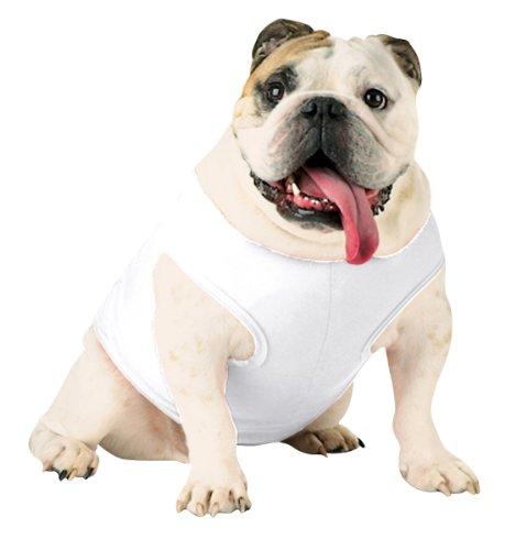 Doggie Skins Baby Rib Tank - White - XL