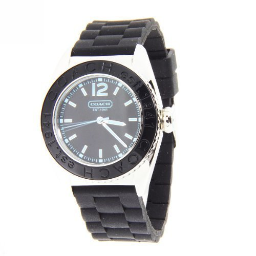 Coach women's Boyfriend watch Andee collection Black Jelly Strap 14501374.