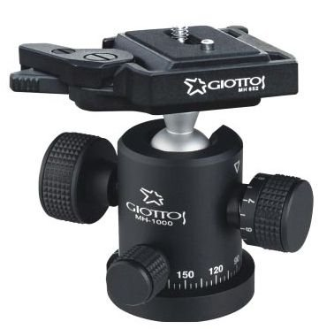 Giottos MH1000-652 Large Ball Head with Tension Control and MH652 Quick Release