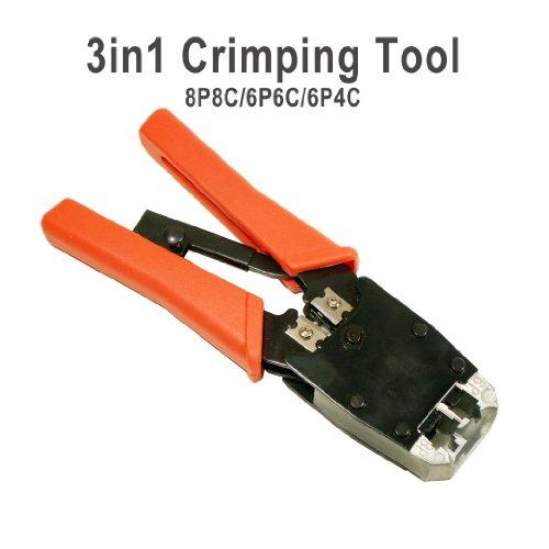 Cable Crimper Tool RJ45/RJ11 Modular Plug Cat5e/Cat6 Network LAN