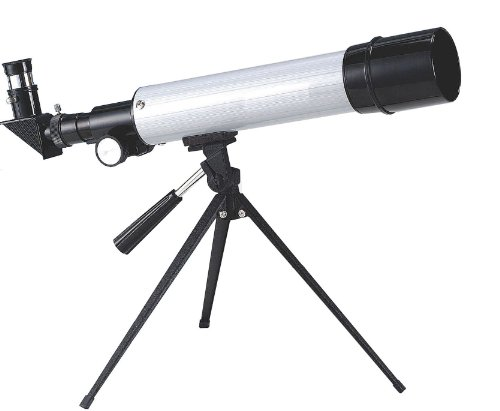 Power Table-Top Refractor Telescope With 50Mm Objective Lens X 450Mm Focal Length Gray And Black
